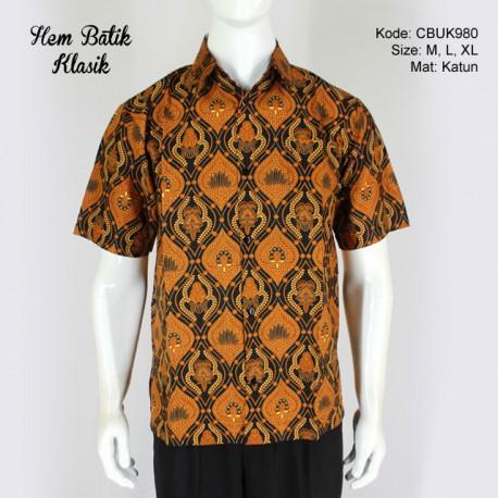 Kemeja Batik Pendek Motif Klasik
