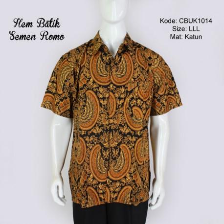 Kemeja Batik Pendek Motif Semen Romo LLL
