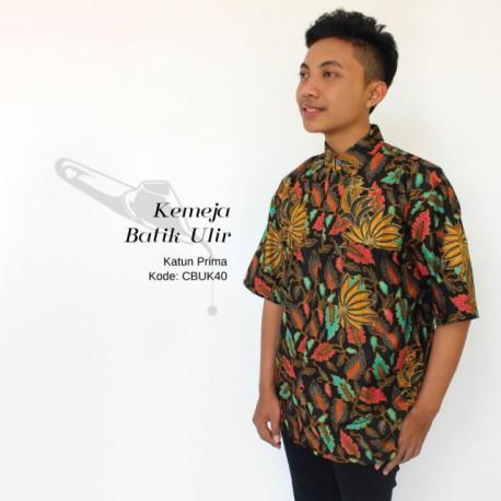 Kemeja Batik Pria Motif Daun
