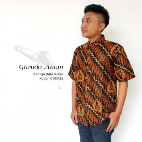 Kemeja Batik Pria Motif Grurdo Anom