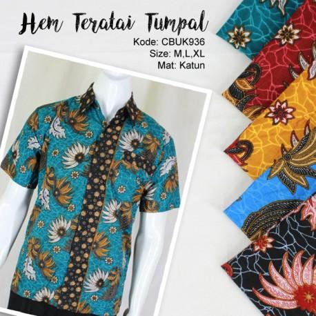 Kemeja Batik Teratai Tumpal
