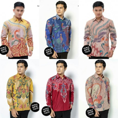 Kemeja Batik Tulis Katun Primissima Lengan Panjang Berlapis Trikot