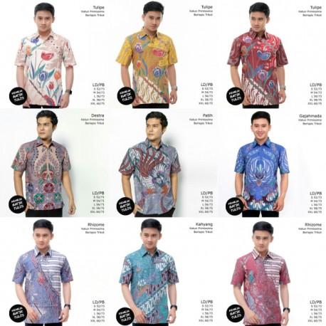 Kemeja Batik Tulis Trikot Lengan Pendek