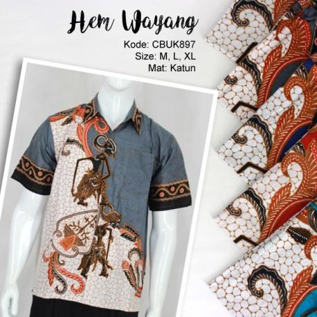 Kemeja Batik Wayang