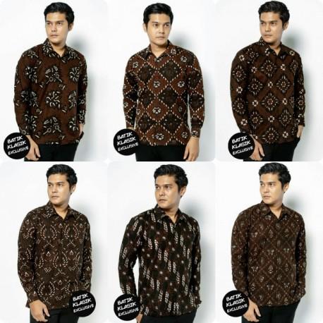 Kemeja Klasik Exclusive Batik Cap Tulis Berlapis Furing