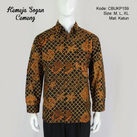 Kemeja Panjang Batik Sogan Cemeng