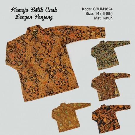 Kemeja Panjang Batik Anak Katun Klasik