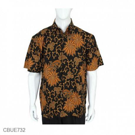Kemeja Pendek Batik Baturaden Motif Girang Palem