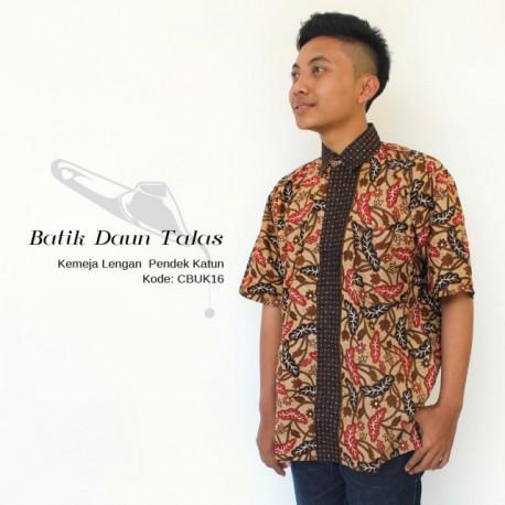 Kemeja Pria Batik Daun Talas