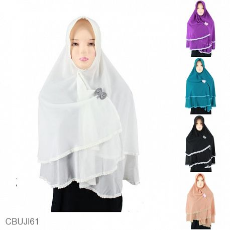 Khimar Sifon Kinara Renda Double Layer