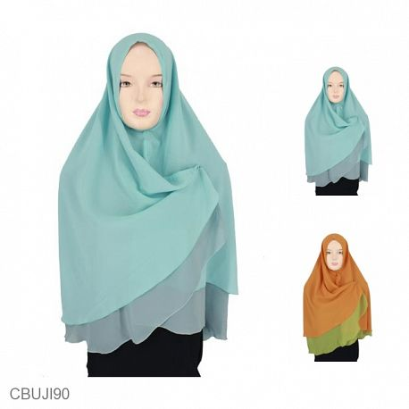 Khimar Syiria Double Color Layer