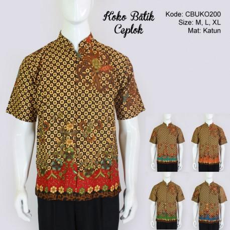 Kemeja Koko Batik Ceplok