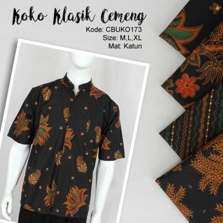 Koko Batik Motif Klasik Hitam