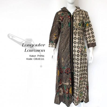 Long Outer Gamis Batik Lawasan Prabu