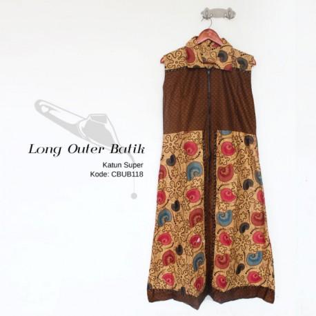 Longcardy Outer Batik Resleting Depan