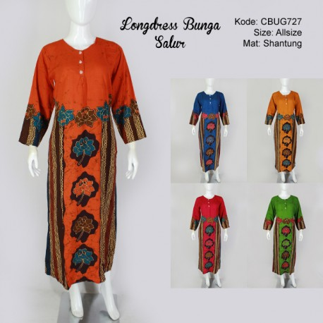 Longdress Batik Bunga Salur
