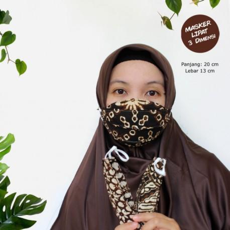 Masker 3d Batik Etnik Lipat Earloop
