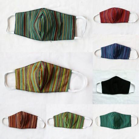 Masker Anak Batik 3 layer Bolak Balik Lurik