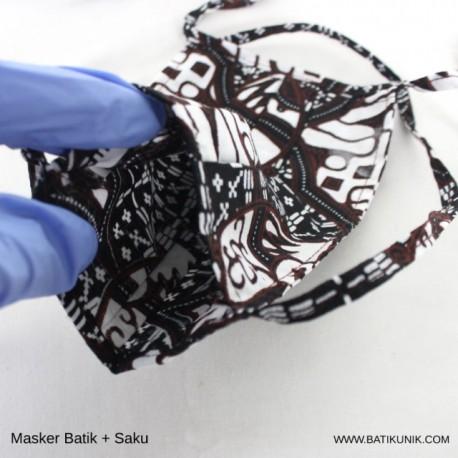 Masker Batik + Saku Tali