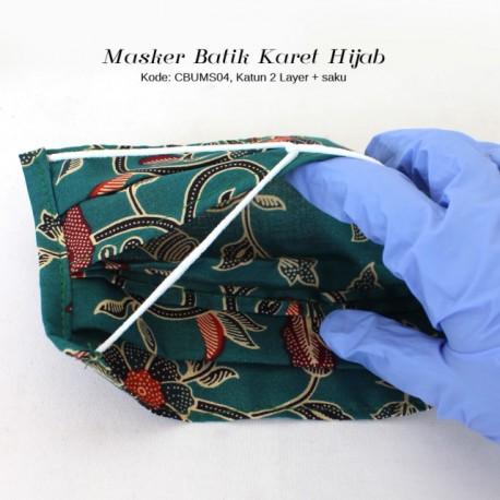 Masker Batik + Saku Kait Karet Hijab