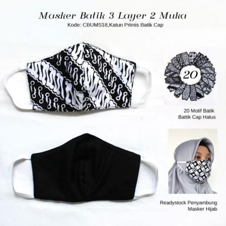 Masker Batik 3 layer Bolak Balik Ayodia