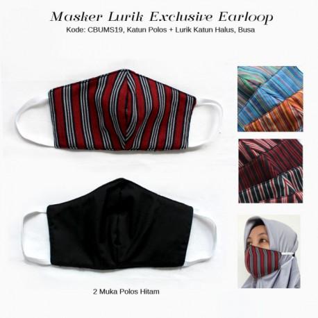 Masker Batik 3 layer Bolak Tenun Lurik Halus