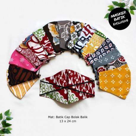 Masker Batik Cap Exclusive Bolak Balik Headloop