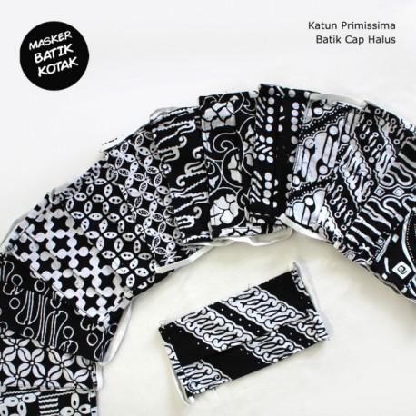 Masker Batik Exclusive Monochrome Karet Kotak