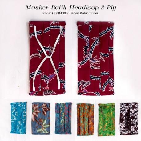 Masker Hijab Batik Karet