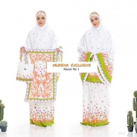 Mukena Batik Exclusive Rayon Super No 1 Motif Rumpun