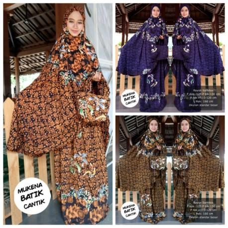 Mukena Batik Pekalongan Cap Warna Klasik