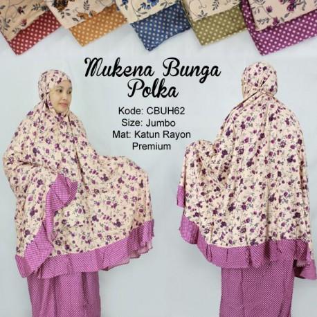 Mukena Rayon Bunga Polka