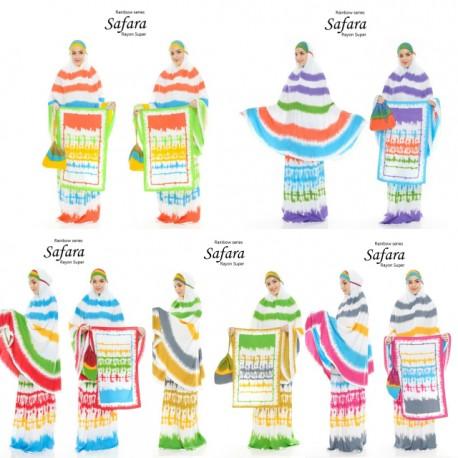Mukena Rayon Etnik Exclusive Rainbow Series Cantik Free Sajadah