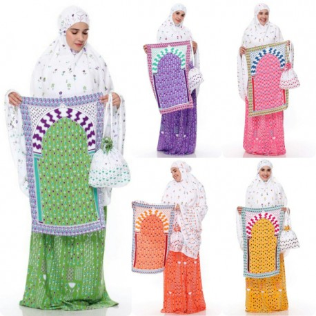 Mukena Set Dewasa Standard Exclusive Sajadah dan Tas