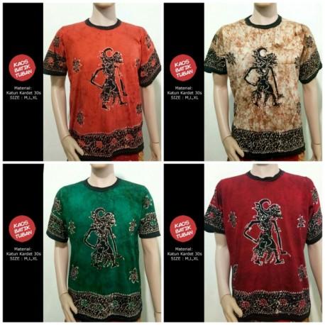 Oblong Kaos Batik Wayang Pantura Tulis