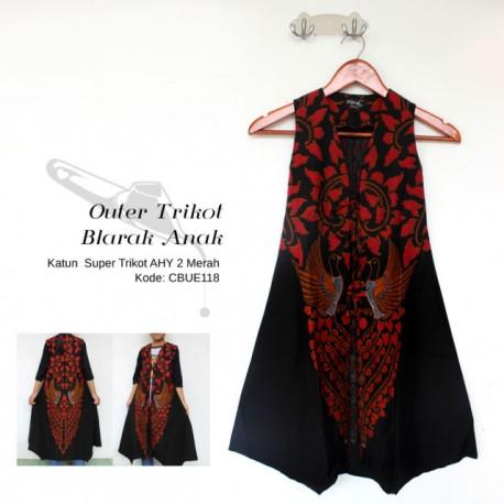 Outer Anak Batik Blarak Trikot AHY 2 Merah