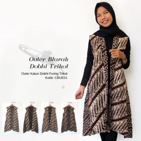 Outer Batik Dobhi Trikot Blarak Sogan