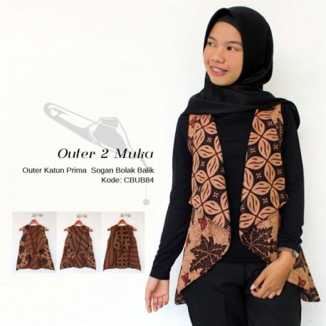 Outer Batik Rompi Bolak Balik