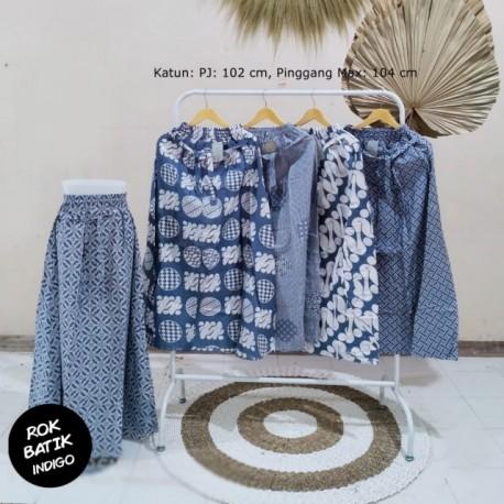 Rok Batik Indigo Katun