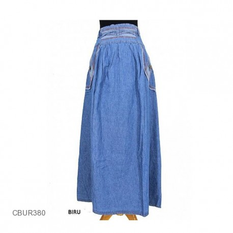 Rok Jeans Adriana Vines Jeans Terang