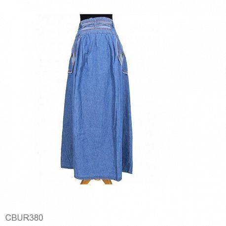 Rok Jeans Adriana Vines Jeans Terang