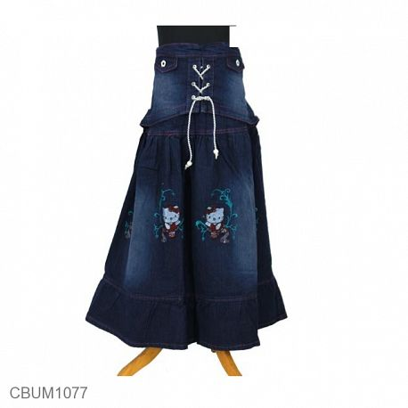Rok Jeans Anak Kitty Tali