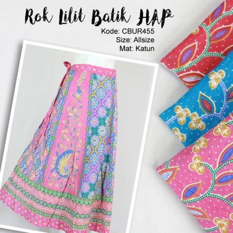Rok Lilit Batik Motif Bunga
