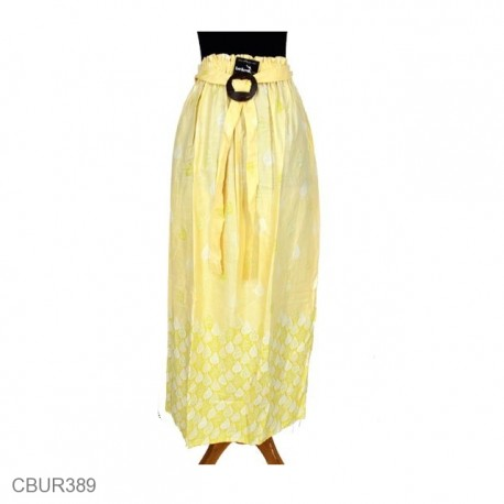 Rok Panjang Batik Santhung Motif Daun Alas