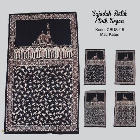 Sajadah Batik Etnik Cap Sogan