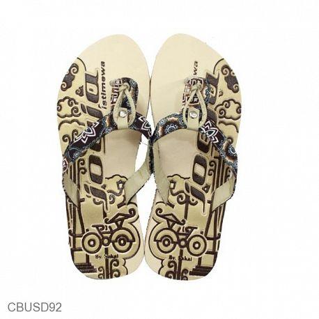 Sandal Batik Jogja Jepit Sendok Tali