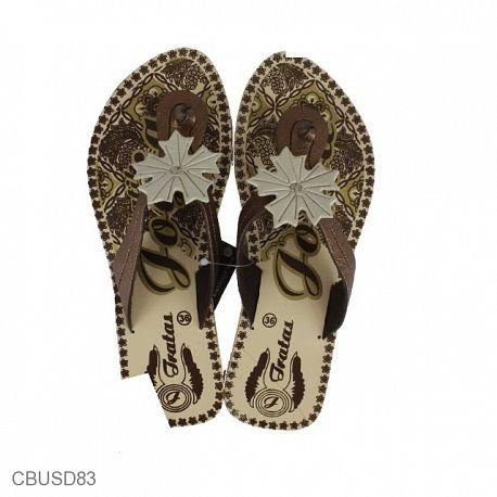 Sandal Etnik Batik Jogja Motif Kembang Sakura