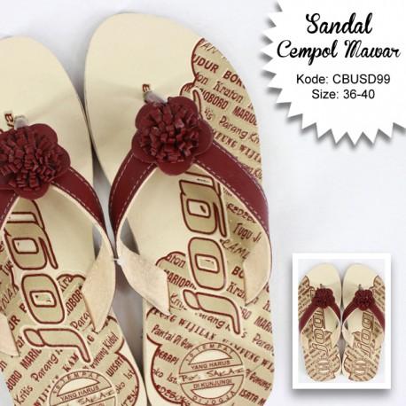 Sandal Etnik Cepol Bunga Mekar