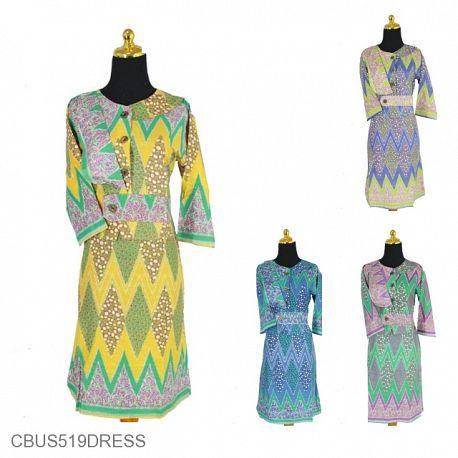 Sarimbit Dress Motif Tumpal Kawung