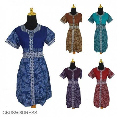 Sarimbit Dress Motif Capucino Warna
